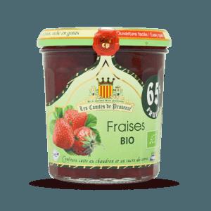 Confiture de fraises BIO, Les Comtes de Provence (350 g)