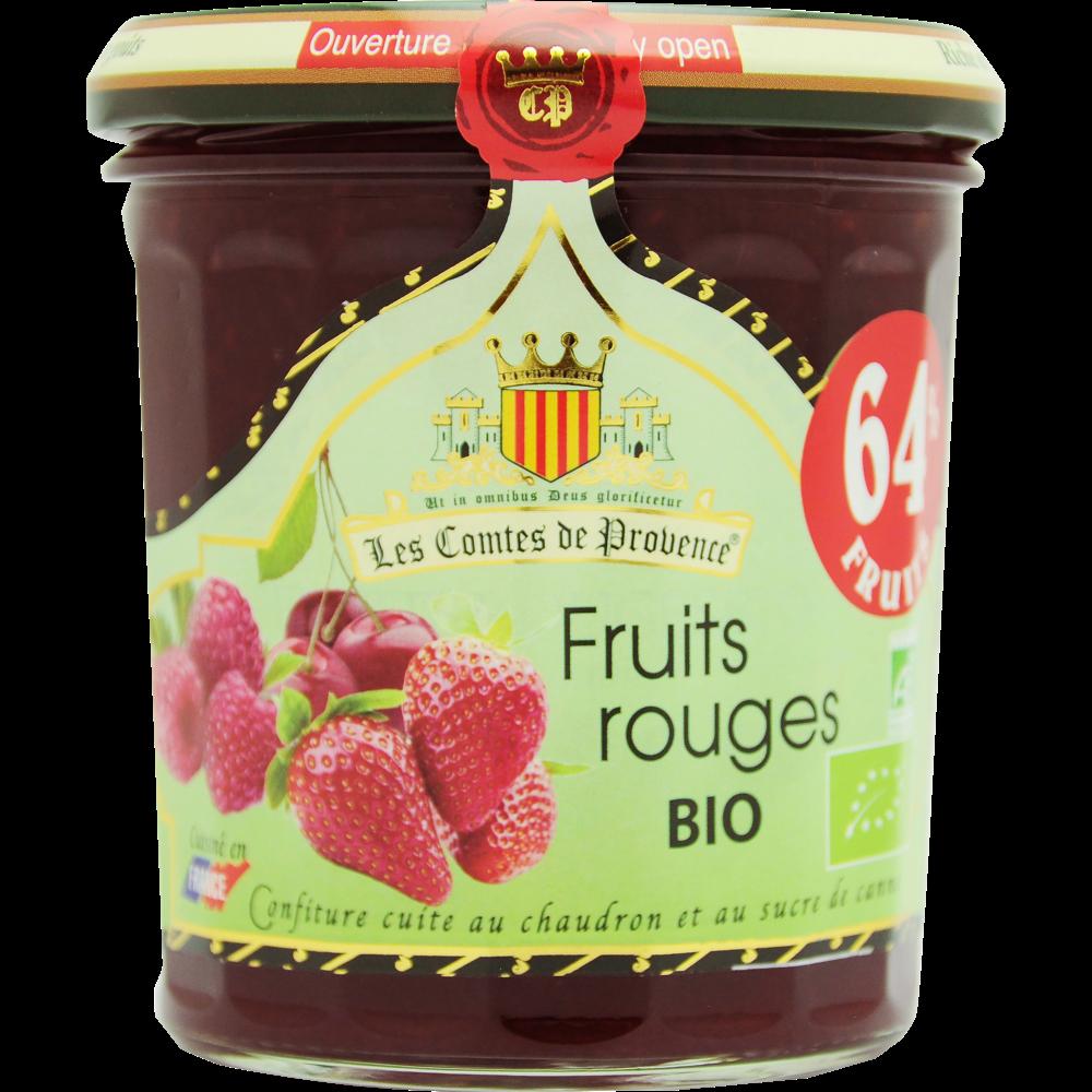 Confiture de fruits rouges BIO, Les Comtes de Provence (350 g)