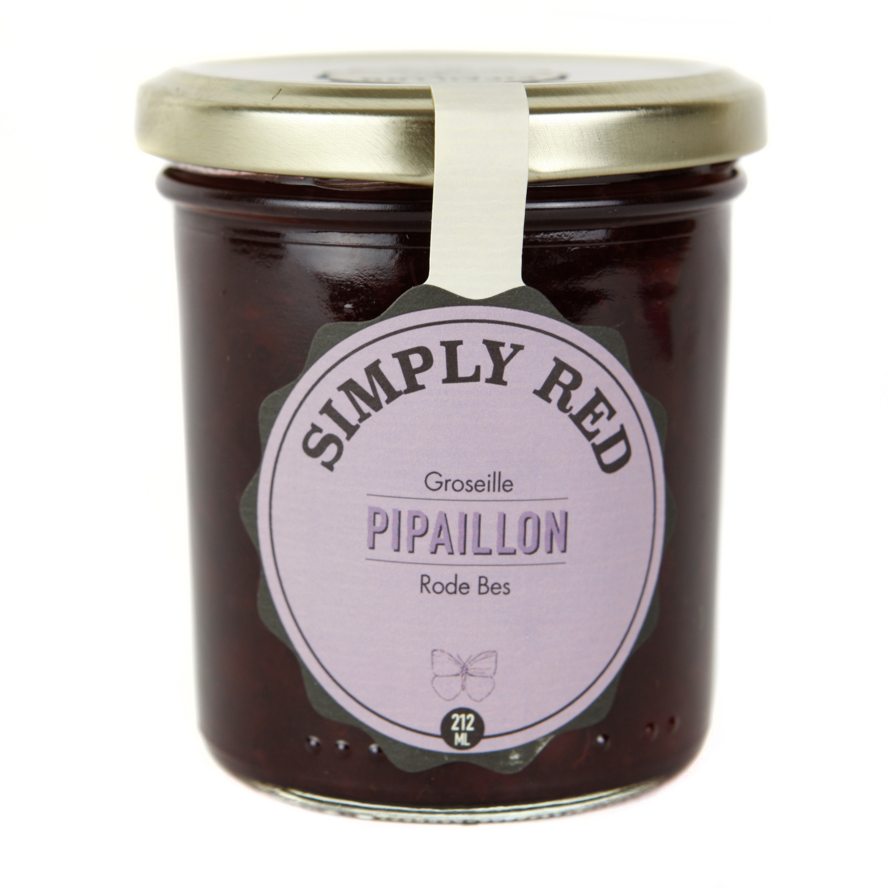 Confiture Simply Red - Groseille BIO, Pipaillon (212 ml)