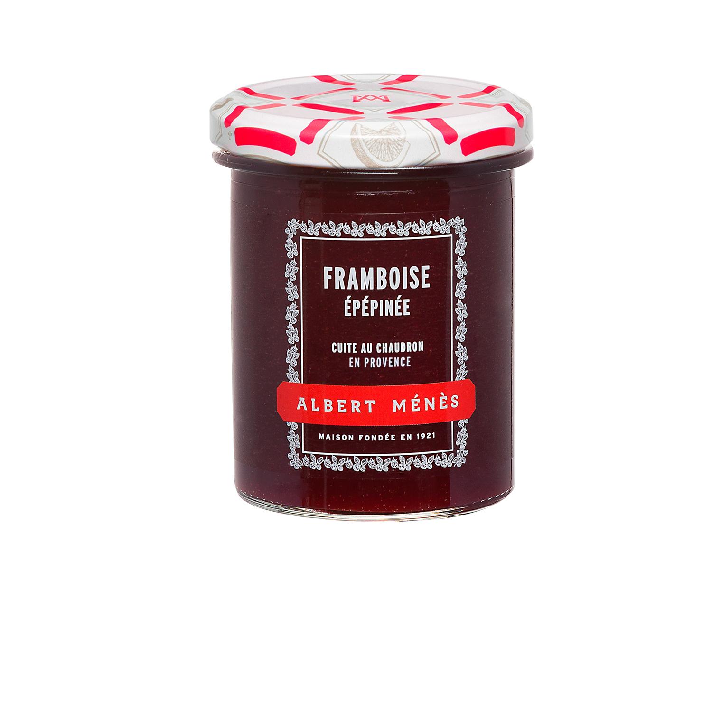 Confiture Extra de Framboise Epépinée, Albert Ménès (280 g)