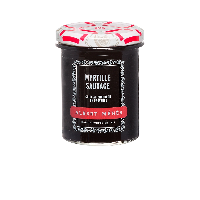 Confiture Extra de Myrtille Sauvage, Albert Ménès (280 g)