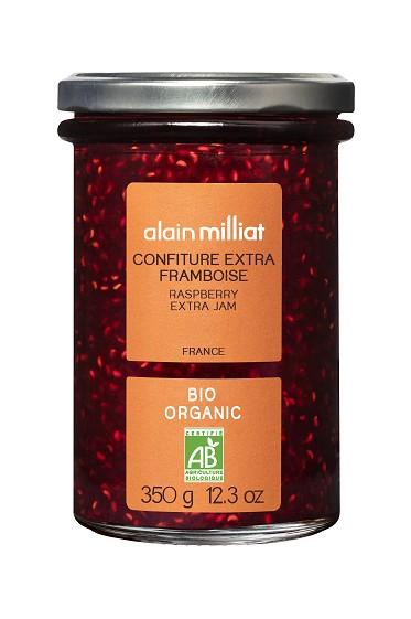 Confiture Extra Framboise BIO, Alain Milliat (350 g)