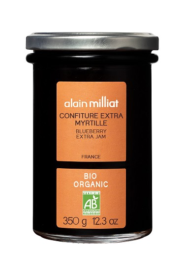 Confiture Extra Myrtille BIO, Alain Milliat (350 g)