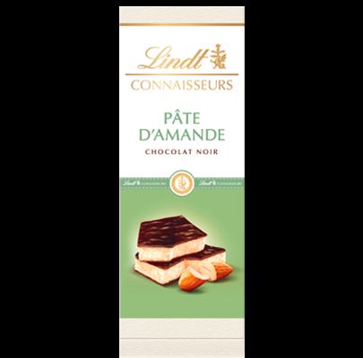 Chocolat noir pâte d'amande, Lindt (120 g)