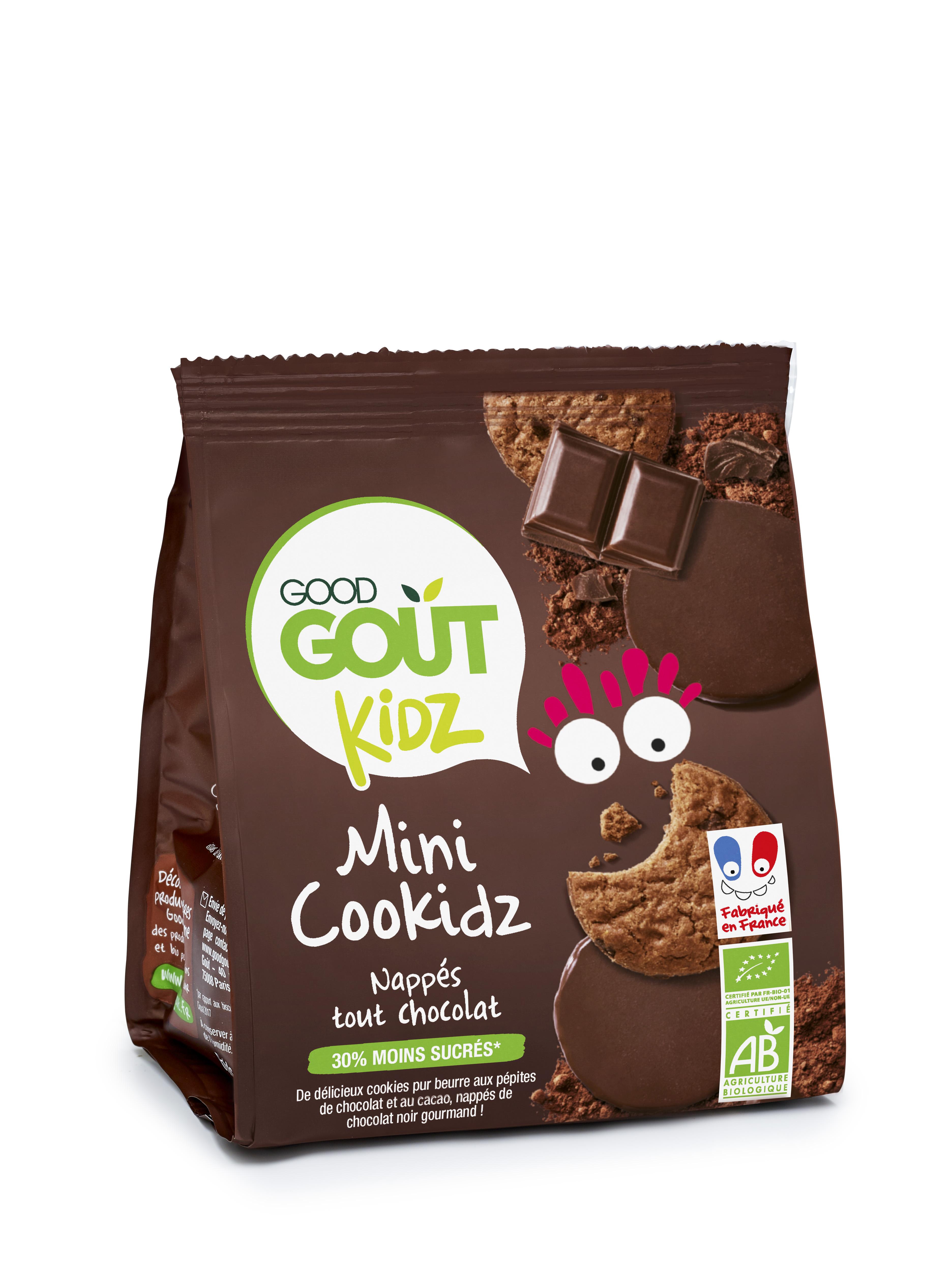 Cookidz nappés chocolat BIO - dès 3 ans, Good Goût Kid'z (115 g)