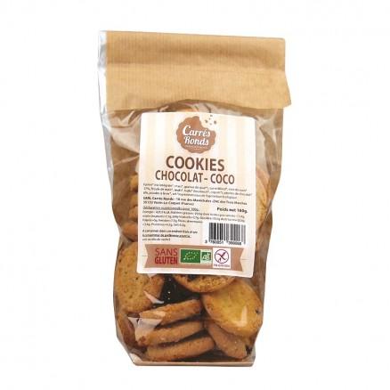 Cookies chocolat coco sans gluten BIO, Carrés Ronds (160 g)