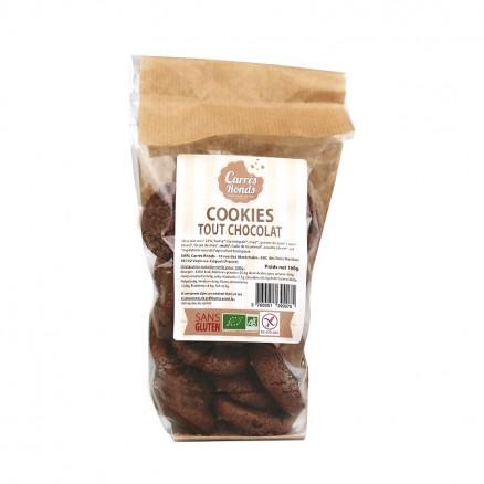 Cookies tout chocolat sans gluten BIO, Carrés Ronds (160 g)