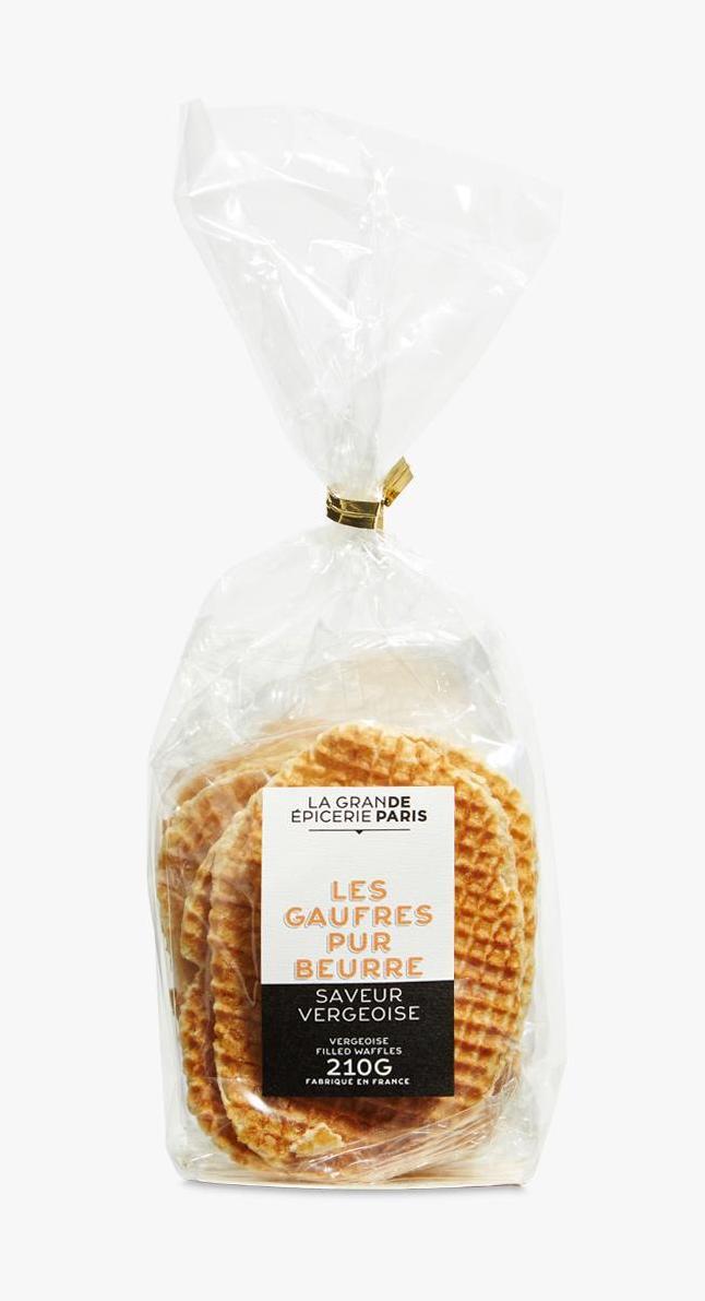 Gaufres pur beurre fourrées saveur vergeoise, La Grande Epicerie de Paris (210 g)