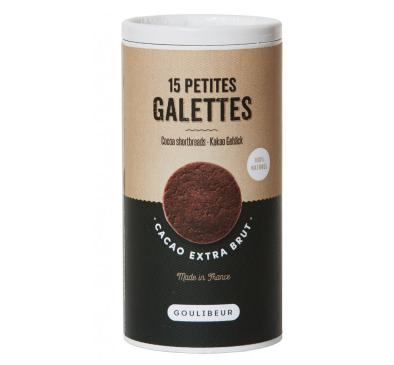 Tube 15 petites galettes au cacao Extra brut, Goulibeur (150 g)