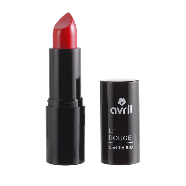 Rouge à lèvres coquelicot n°597 certifié BIO, Avril