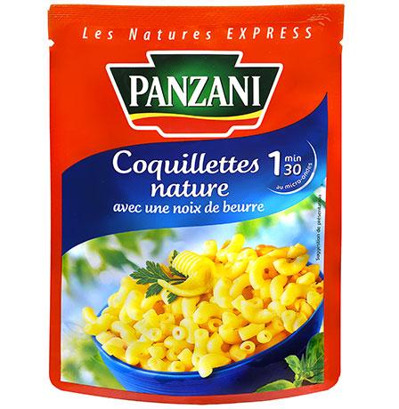 Coquillettes au beurre prêtes en 1m30, Panzani (200 g)