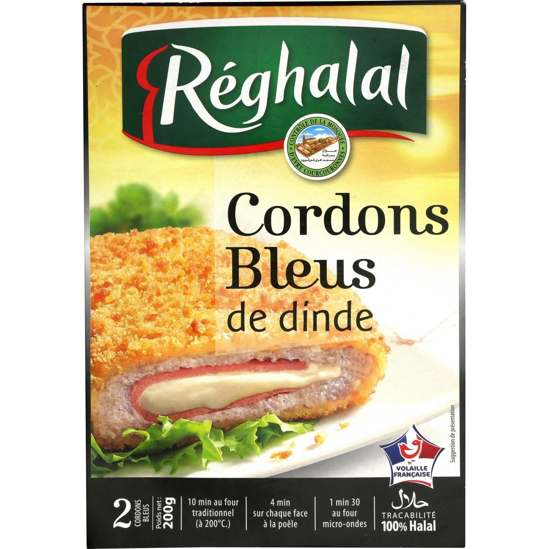Cordon Bleu de dinde Halal, Reghalal (2 x 100 g)