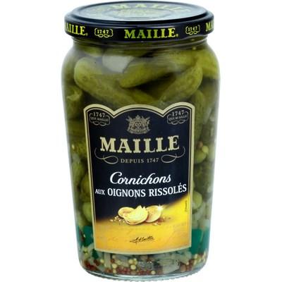 Cornichons aux oignons rissolés, Maille (210 g)