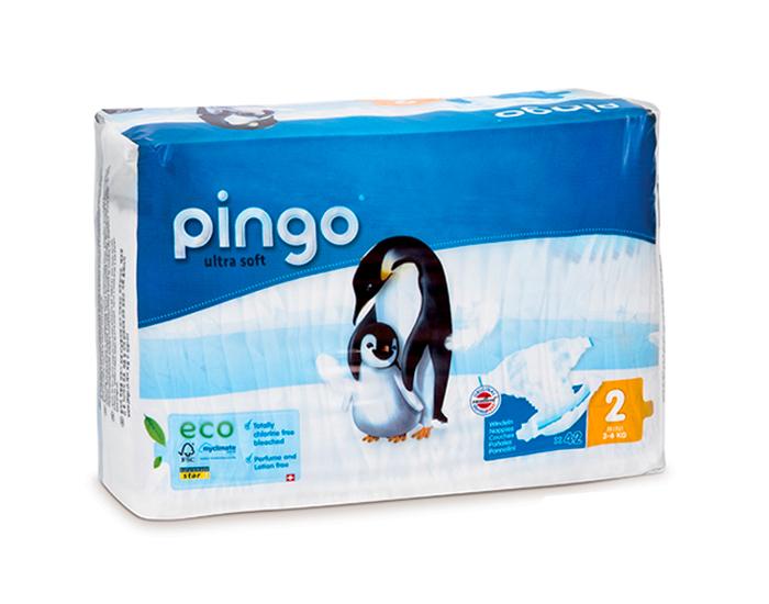 Couches écologiques T2 mini - 3-6 kg, Pingo (42 couches)