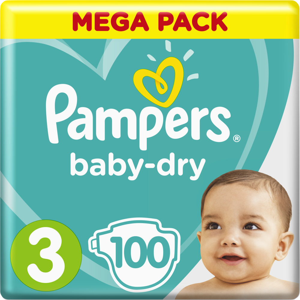 Couches Baby Dry T3 / 6-10 kg, Pampers (x 100)