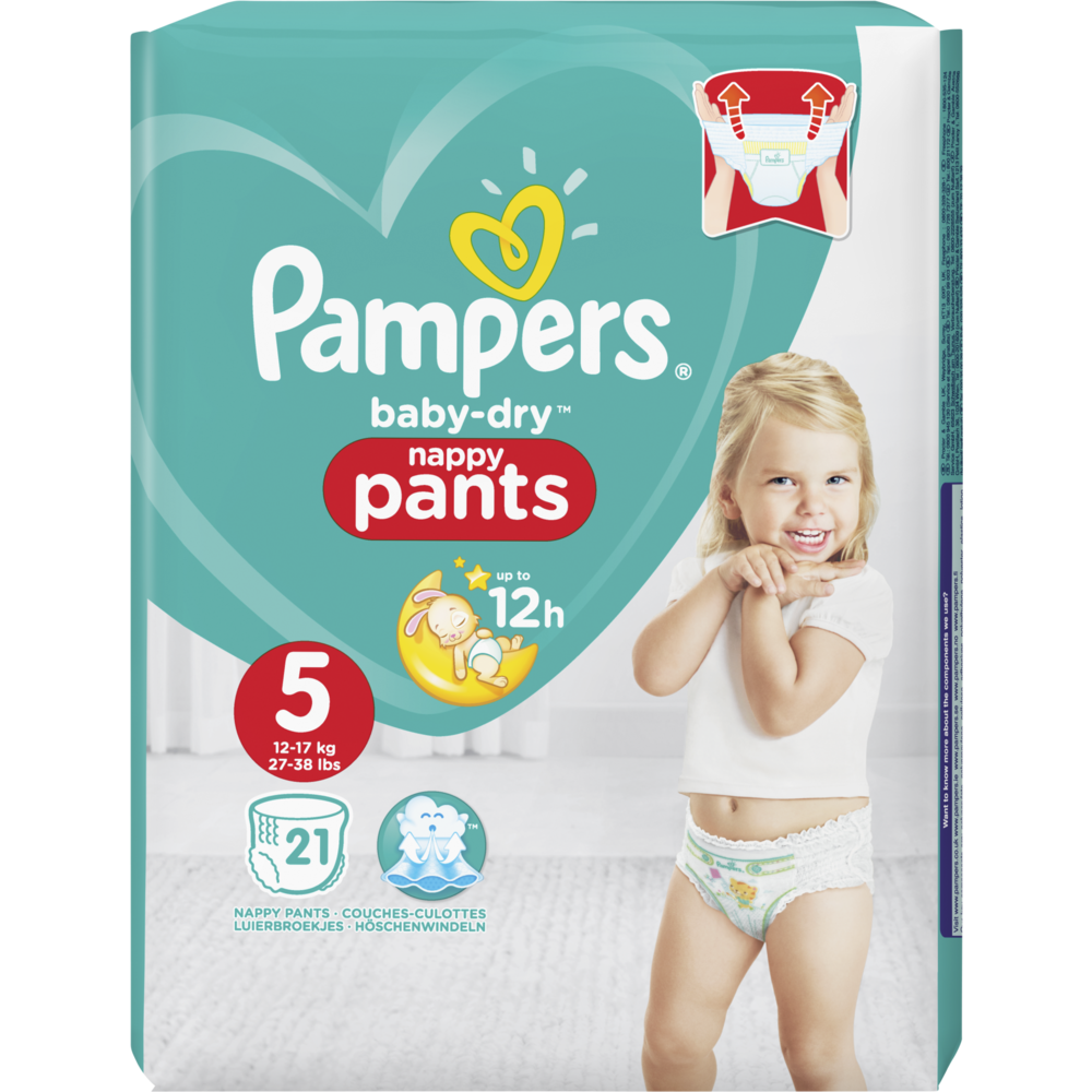 Couches/culottes Baby Dry pants T5 / 11 à 16 kg, Pampers (x 21)