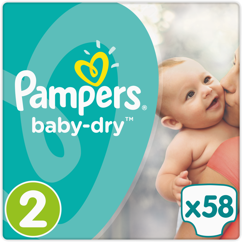Couches Baby Dry T2 / 4-8 kg, Pampers (x 58)