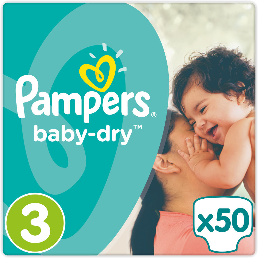 Couches Baby Dry T3 / 6-10 kg, Pampers (x 50)