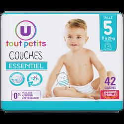 Couches essentiel T5 11/25kg U Tout Petits (x 42)