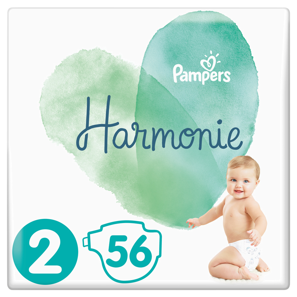 Couches Harmonie T2 / 4-8 kg, Pampers (x 56)