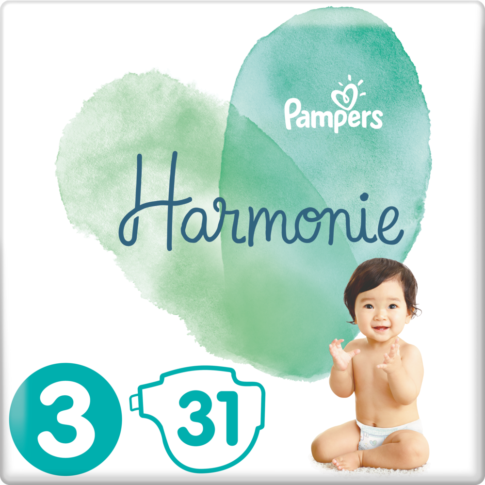 Couches Harmonie T3 / 6-10 kg, Pampers (x 31)