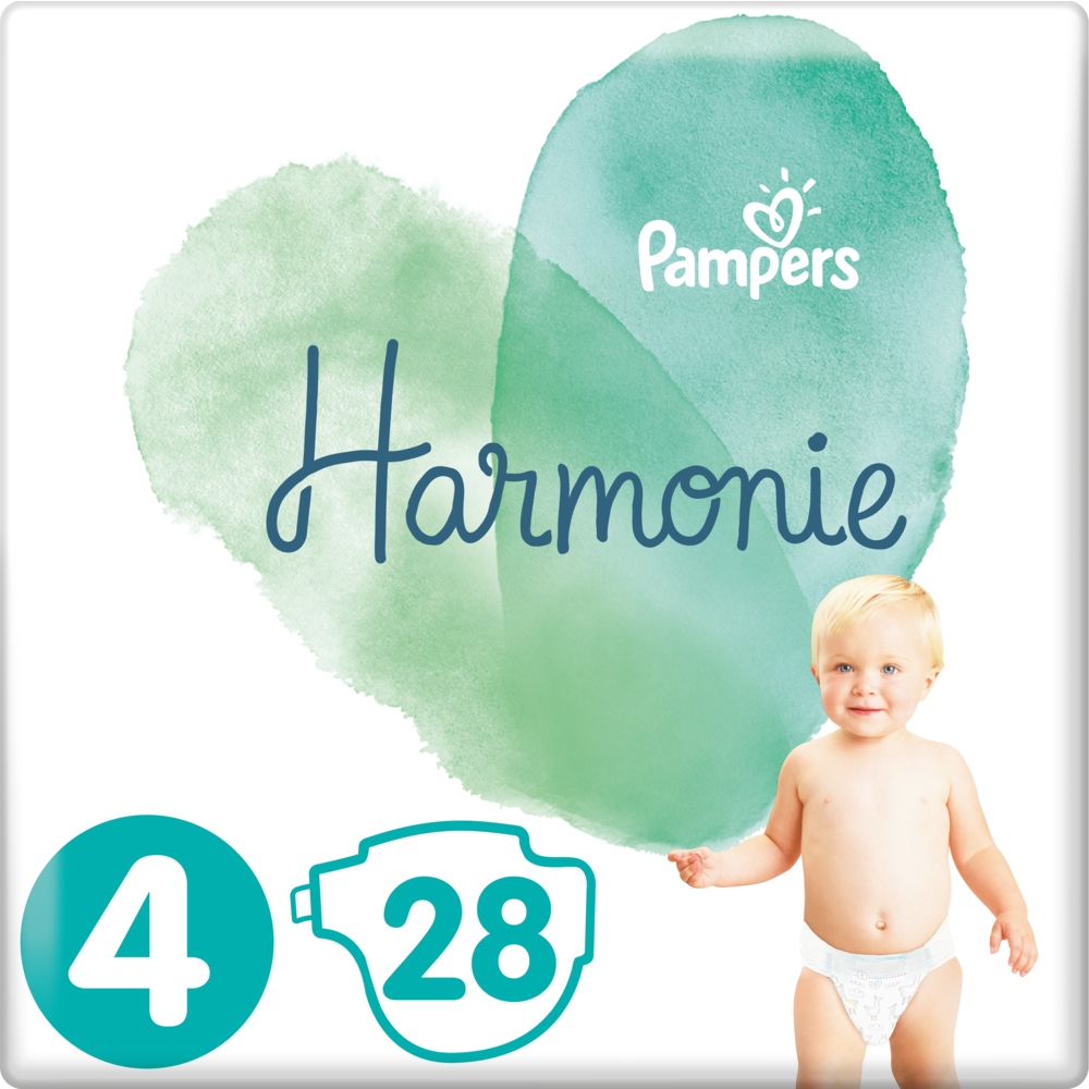 Couches Harmonie T 4 / 9-14 kg, Pampers ( x 28)