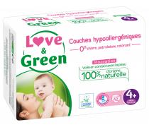 Couches sensitives et écologiques - T4+, Love & Green (x 42)