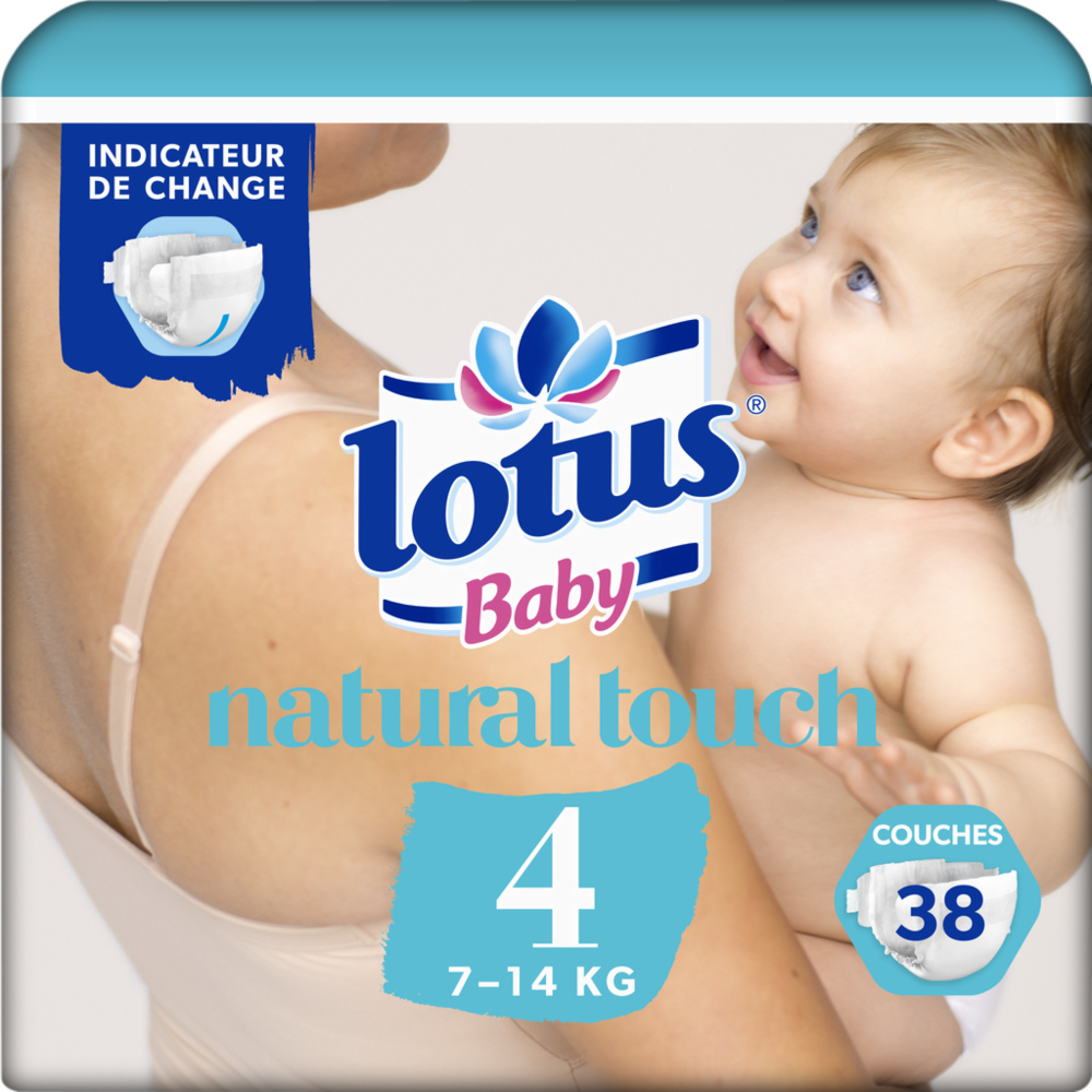 Couches natural touch T4 / 7-14 kg, Lotus Baby (x 38)