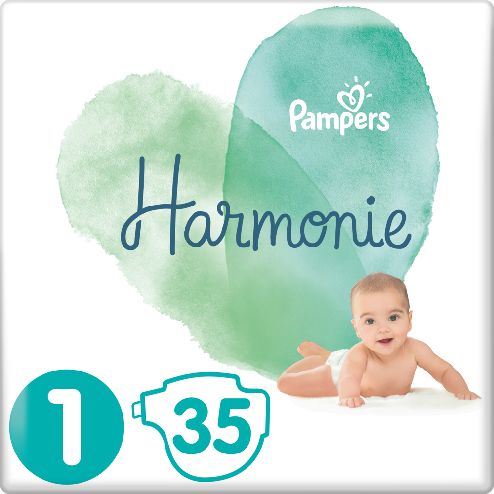 Couches Harmonie T1 / 3-4 kg, Pampers (x 35)