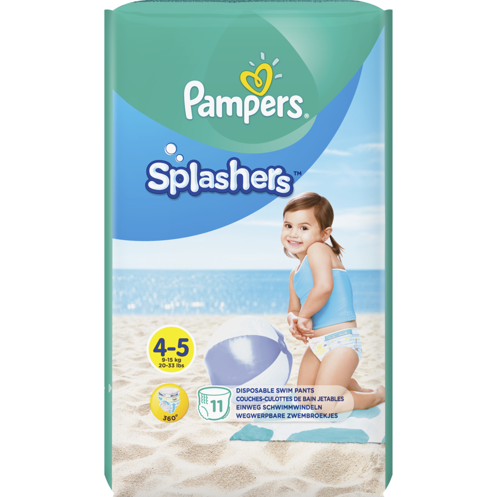 Couches Splashers T4 / 9-14 kg, pampers (x 11)