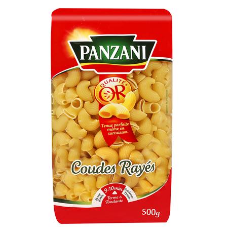 Coudes rayés, Panzani (500 g)