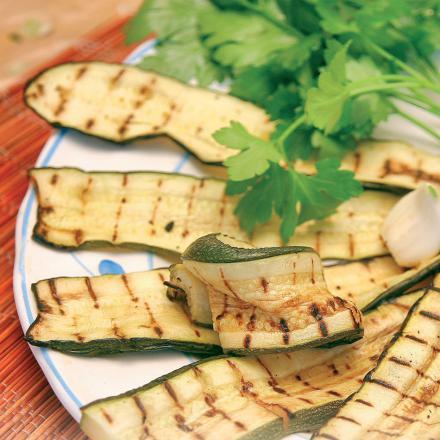 Courgettes grillées à l'huile (120 g)