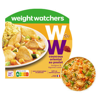 Couscous poulet boulgour, Weight Watcher (300 g)