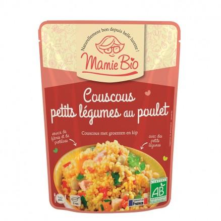 Couscous petits légumes au poulet BIO, Mamie BIO (220 g)