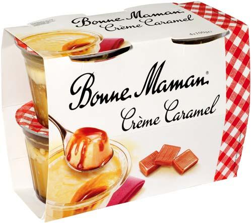 Crème caramel au lait frais Bonne Maman (4 x 100 g)