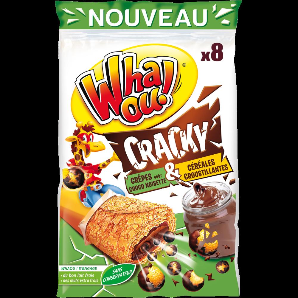 Crêpes Whaou cracky choco noisette et céréales (x 8, 256 g)