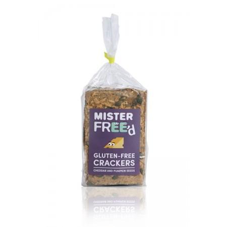 Crackers au cheddar et aux graines de potiron BIO, Mister Free'd (220 g)