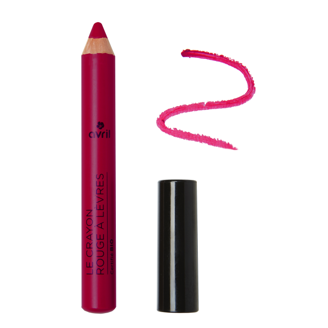 Crayon rouge à lèvres violine certifié BIO, Avril (2 g)