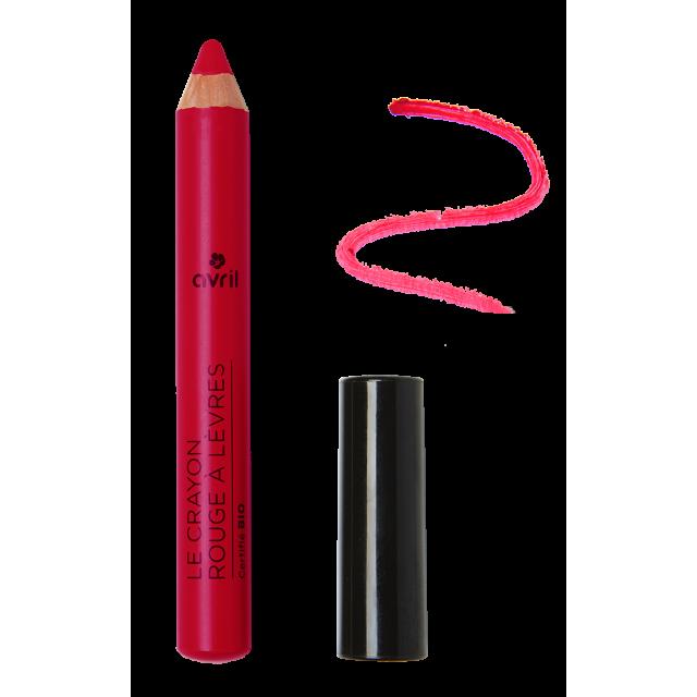 Crayon rouge à lèvres griotte certifié BIO, Avril (2 g)