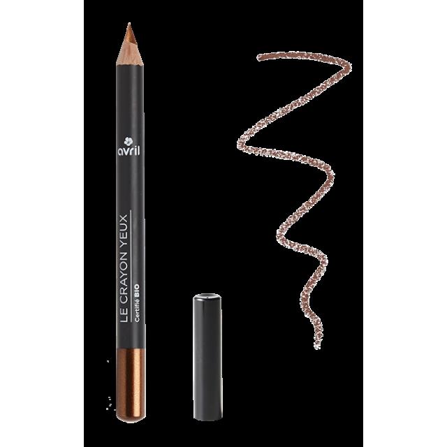 Crayon yeux bronze cuivré certifié BIO, Avril (1 g)