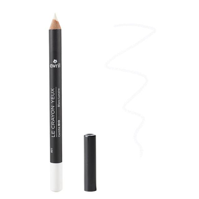 Crayon yeux blanc lunaire certifié BIO, Avril (1 g)