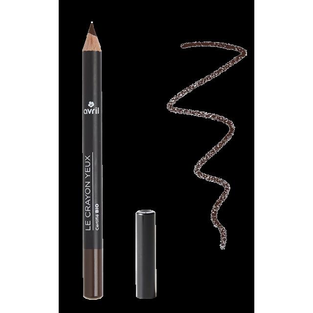 Crayon yeux terre brûlée certifié BIO, Avril (1 g)