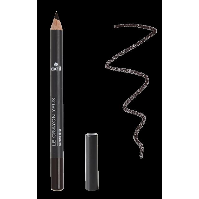 Crayon yeux noir charbon certifié BIO, Avril (1 g)