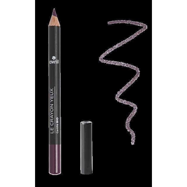 Crayon yeux prune certifié BIO, Avril (1 g)