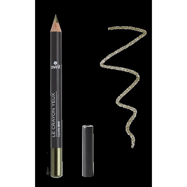 Crayon yeux vert camouflage certifié BIO, Avril (1 g)