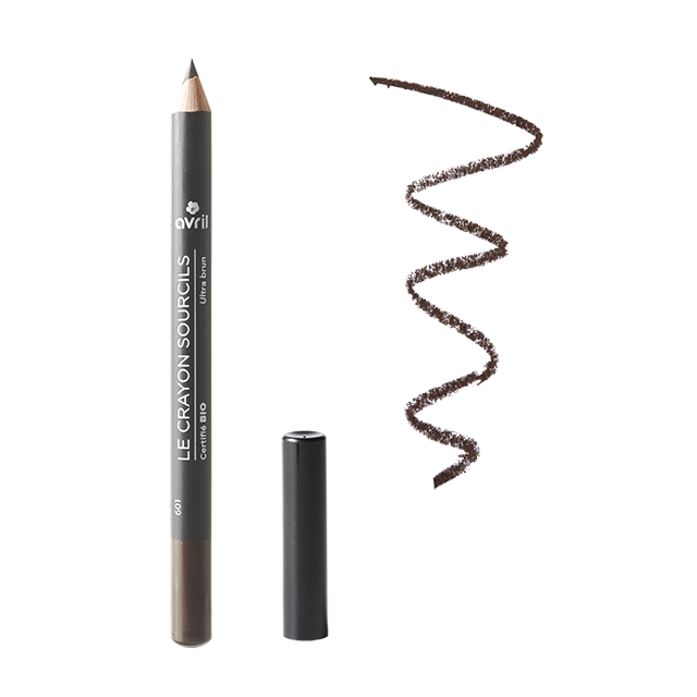 Crayon sourcils ultra brun certifié BIO, Avril (1 g)