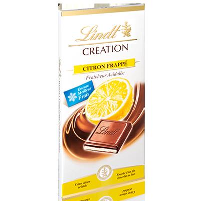Chocolat au lait citron frappé, Lindt (150 g)
