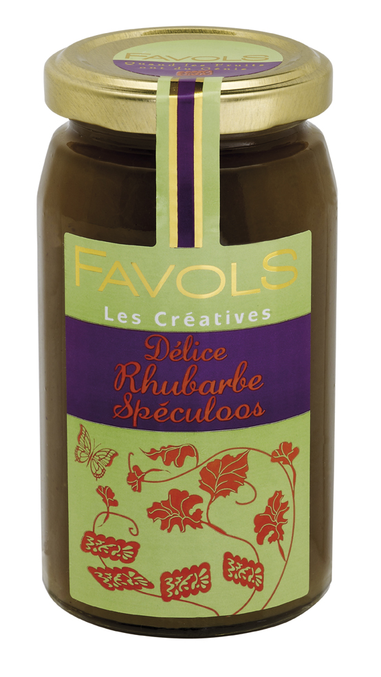 Confiture rhubarbe speculoos, Favols (260 g)