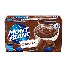 Crème chocolat, Mont Blanc (4 x 125 g)