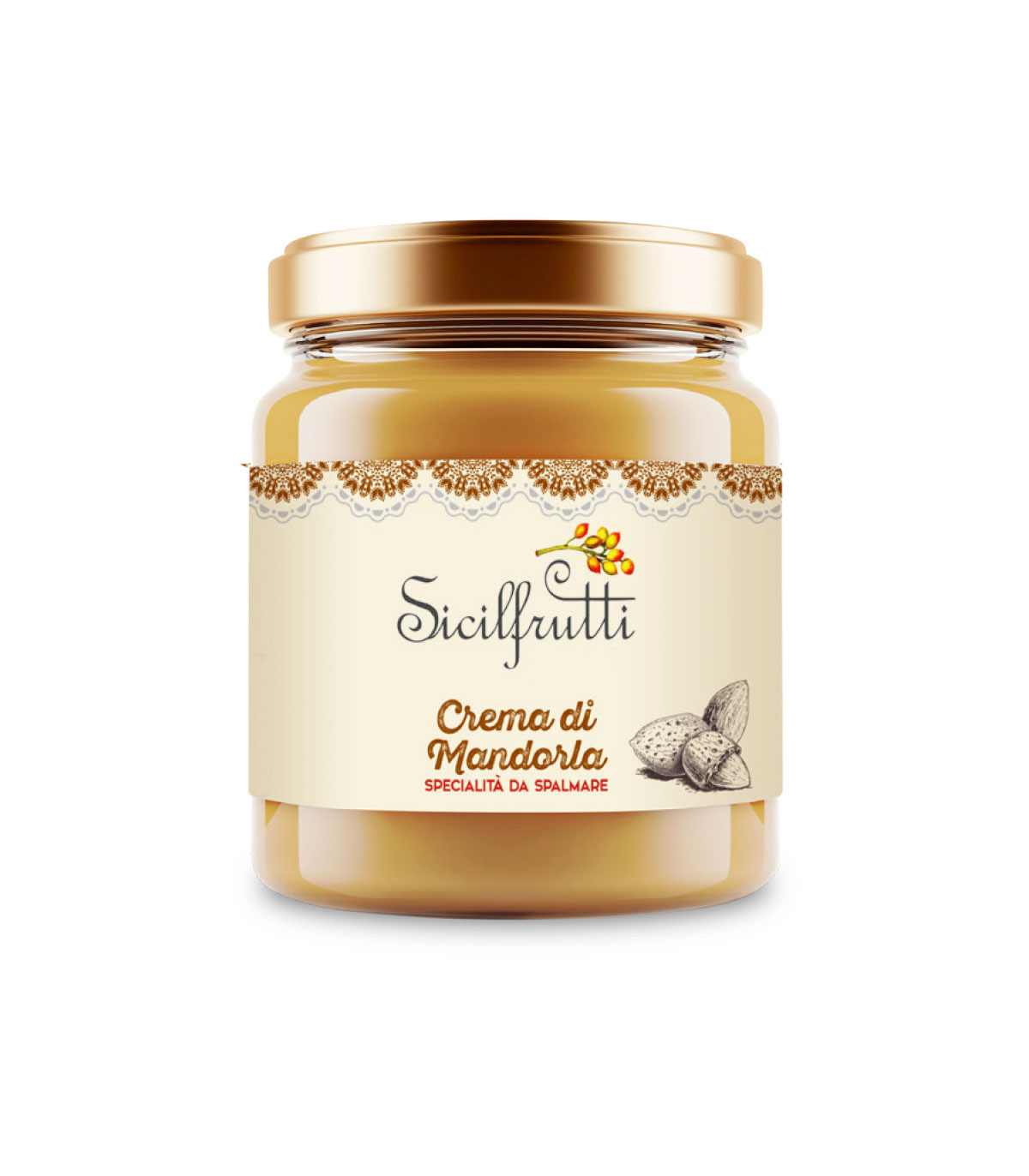 Crème d'amandes,  Sicilfrutti (190 g)